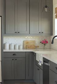 Grey Kitchen Backsplash Best 25 Gray Kitchen Cabinets Ideas On Pinterest Grey Cabinets