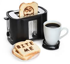 Talking Toaster Bite Me Pop Art Toaster With Usb Coffee Plate Gadizmo Com