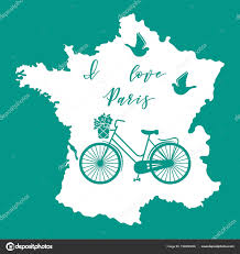 travel leisure images Map france bicycle basket flowers pigeons travel leisure stock jpg