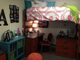 Dorm Decorations Pinterest by Desk Chair Dresser Underneath Top Bunk Bed White Bedspread W