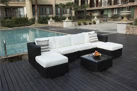 6 seater patio furniture set yakoe papaver 6 seater black rattan corner sofa set garden
