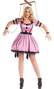 Halloween Costumes Dolls Pink Marionette Costume Size Costumes