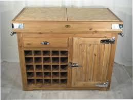 meuble cache poubelle cuisine billot ilot de boucher de kercoet meuble de metier ilot de