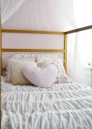 Duvet Cover Diy Make Shabby Chic Glam Kids U0027 Bedding Little C U0027s Bedroom Makeover