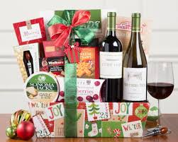 christmas wine gift baskets and white wine christmas duet gift basket at wine country gift