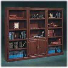 Sauder Bookcase Heritage Hill Library With Doors 102792 Sauder Within Bookcase