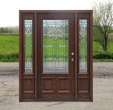 Steel Vs Fiberglass Exterior Door Steel Entry Door With One Sidelight Exterior Wood Doors Buy