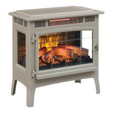 duraflame 3d french grey infrared electric fireplace stove with