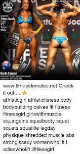 Female Bodybuilder Meme - fitness females certified location sydney australia height 5 2