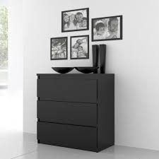 commode contemporaine chambre finlandek commode de chambre natti style contemporain noir l 77 2 cm