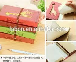 giraffe pattern notebook stationery double folded diary lovely giraffe pattern paper notebook