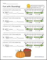 free rounding worksheets 4th grade rounding to the nearest 10 with a number line there are many on