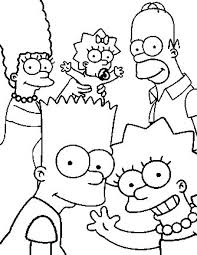 the simpsons coloring pages pinterest