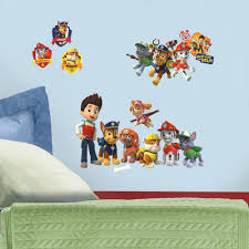 roommates rmk2640scs paw patrol peel and stick wall decals from the manufacturer paw patrol wall decals