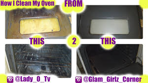 how to clean your oven with baking soda and vinegar youtube