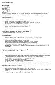 lpn resume exles new grad lpn resume objective objectives sle livecareer