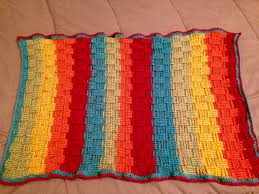 fo basketweave baby blanket using caron cakes u0027rainbow sprinkles