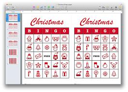 christmas bingo template pdf or pages mactemplates com