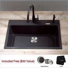 Granite Single Bowl Kitchen Sink Beautiful Durable Granite Sink With A Built In Ledge For