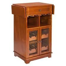 Espresso Bar Cabinet 8 Bottle Brown Bar Cabinet Zh141191 The Home Depot