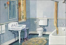 Blue Bathroom Fixtures 1926 Blue Gold Scheme Bathroom Crane Plumbing Fixtures