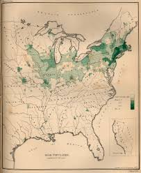 United States Map By Population by Map Of The Irish Population In The United States 1872 Full Size