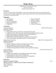 warehouse resume skills summary customer inventory associate resume exles free to try today