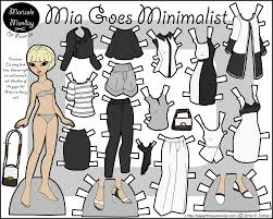 mia goes minimalist and monochrome printable paper dolls and craft