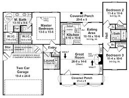 ranch floor plans with split bedrooms ranch plan 1500 square 3 bedrooms 2 bathrooms 1776 00022
