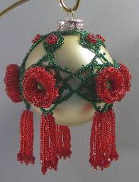 385 best beaded christmas ornaments images on pinterest beaded