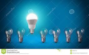 blue free light bulbs led bulb stock image image of idea bright economical 35966755
