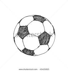 drawn ball funny football pencil and in color drawn ball funny
