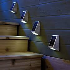 Solar Powered Landscape Lights Solar Powered Outdoor Stairway Lights Pertaining To Solar Outdoor