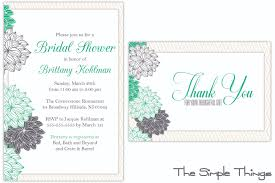 Invitation Card For Get Together Thank You Notes For Bridal Shower Best Shower