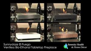 sunnydaze el fuego ventless tabletop bio ethanol fireplace yl