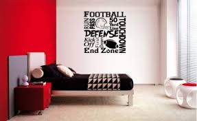 sport en chambre x football collage métro lettrage decal mur vinyle autocollant
