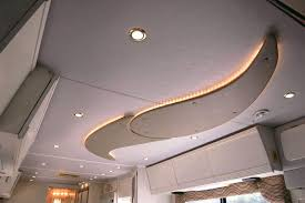 Rv Led Light Fixture Custom Ceiling Rv Renovations By Classic Coach Works