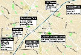 Charlotte Zip Code Map by Parking Abounds In New Developments Near Charlotte U0027s Lynx Blue