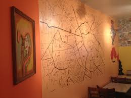street map painted on the wall at indigo district cuisine