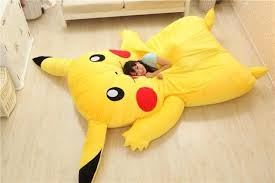 Giant Totoro Bed Sleep With Pikachu On Giant Pikachu Bed