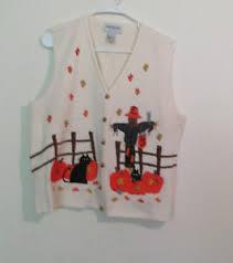 vintage empress halloween cardigan sweater vest women u0027s size xl ebay