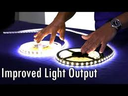 high output led strip lighting high quality 5050 smd led strip improved light output youtube