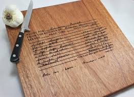 recipe engraved cutting board you re welcome you re welcome gifted custom recipe engraved