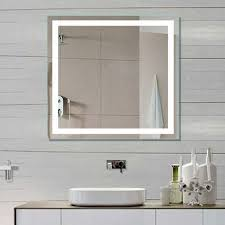 Illuminated Mirrors For Bathrooms | dimmable lighted mirror harmony 32 x 32 illuminated mirrors