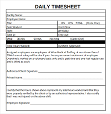 Excel Daily Timesheet Template 12 Daily Timesheet Templates Free Sle Exle Format