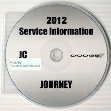 2012 dodge journey factory service manual cd rom original shop