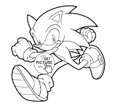 sonic runs coloring pages for kids printable free coloing 4kids com