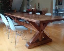 solid walnut dining table walnut dining table wood dining table harvest table walnut