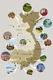 notre carte du vietnam cambodge et laos vietnam voyage and asia
