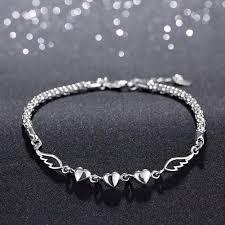 love heart bracelet images Angel wing love heart bracelet jpg